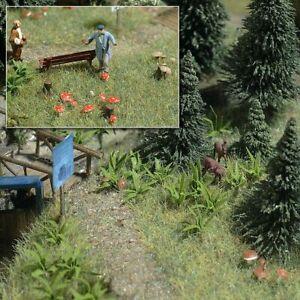 Busch-1203-Ferns-And-Mushrooms-H0