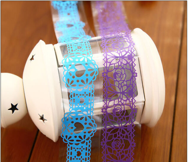 Cool Pop Washi Paper Lace Roll DIY Chic Sticky Paper Masking Tape Self Hot Sell