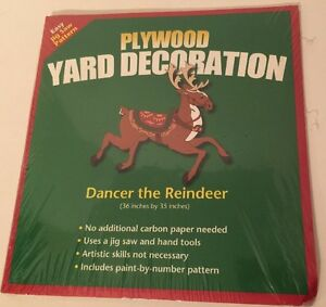 DANCER-THE-REINDEER-Jig-Saw-Pattern-Plywood-Yard-Decoration-Christmas-Holiday