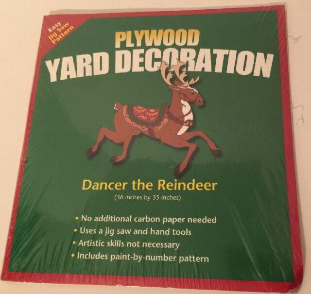 Dancer The Reindeer Jig Saw Pattern Plywood Yard Decoration