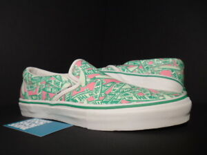 19146cff54a0f6 2005 VANS CLASSIC CLS SLIP-ON LX MARC JACOBS WATERMELON WHITE GREEN ...