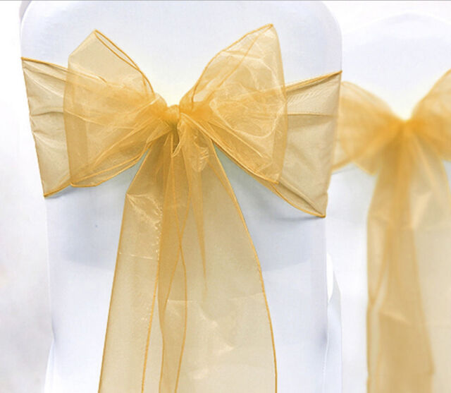 1pcs Organza Chair Cover Sash Bow Wedding Party Reception Banquet Decor