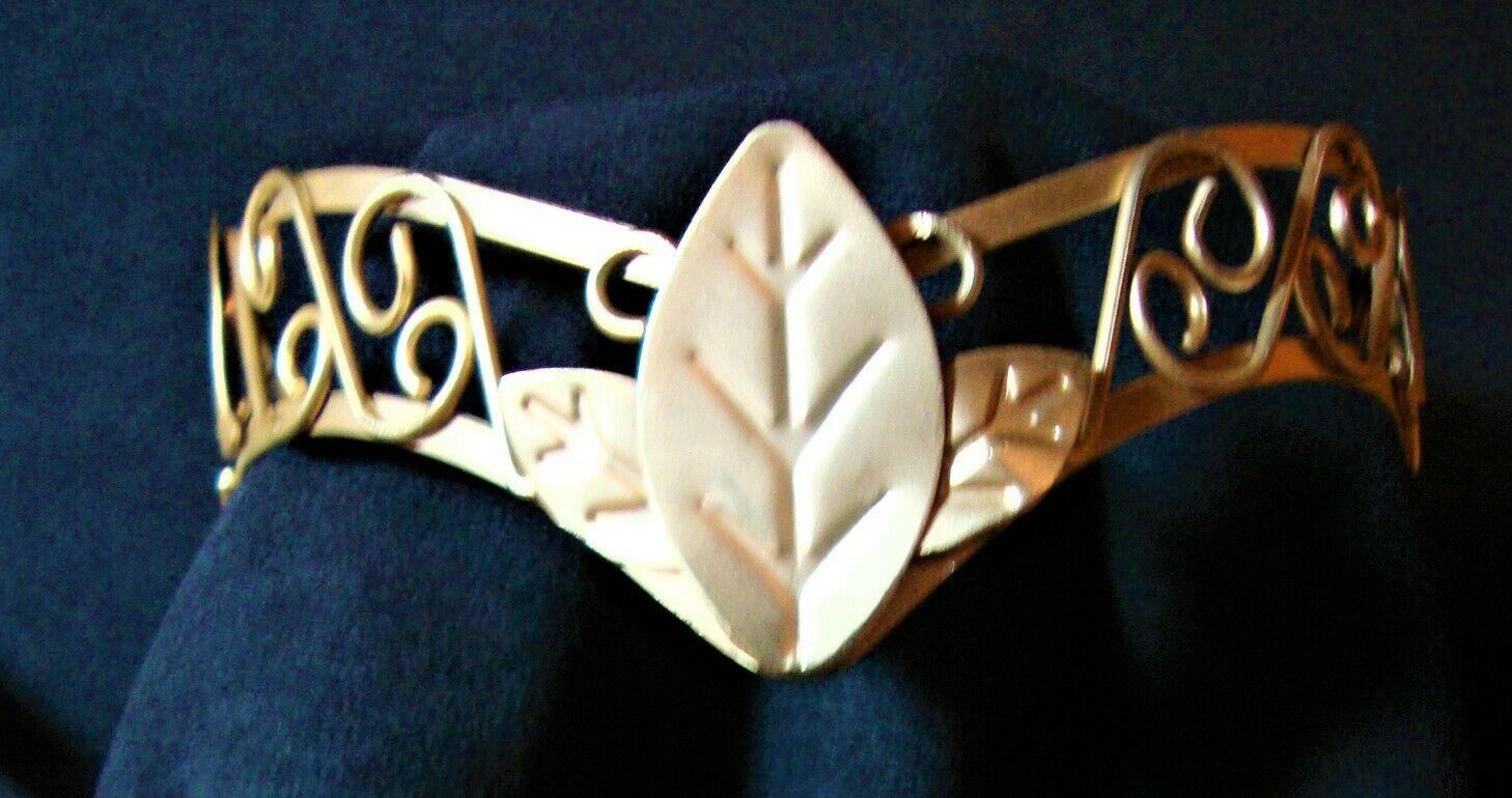 EUC Dull Gold Tone Festival Medieval Renaissance Wedding Leaf Headdress