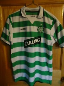promo code d60a7 2c60d Details about CELTIC FOOTBALL CLUB UMBRO VINTAGE Soccer S/S JERSEY Youth XL  Carling