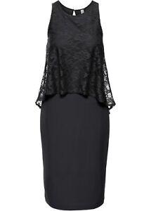 Kleid mit Spitze Gr. 44 Damen Partykleid Midi-Dress ...