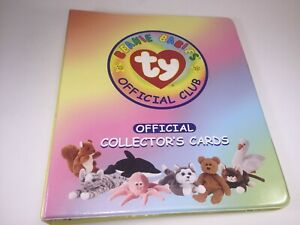 TY-Beanie-Babies-Official-Club-Collector-039-s-80-Cards-amp-Binder-with-5-Sleeves-1998