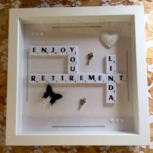 Regalo Personalizado de jubilación Scrabble Marco