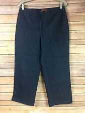 Docker's Womens 8 Dark Wash Stretch Stain Defender Ankle Pants Jeans 30X23