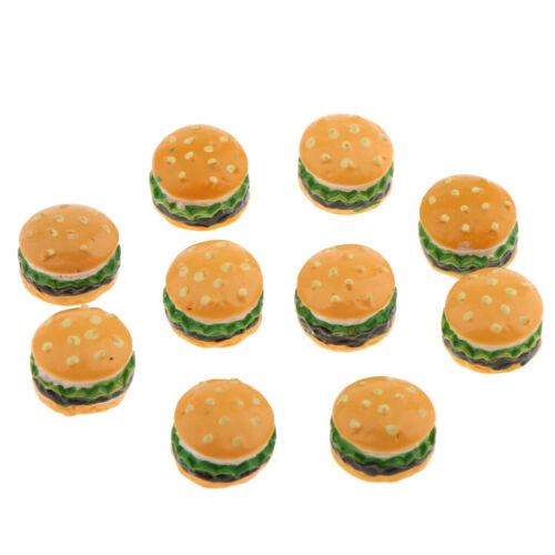 10 Stück 1//12 Puppenhaus Miniatur Bäckerei Lebensmittel Hamburger