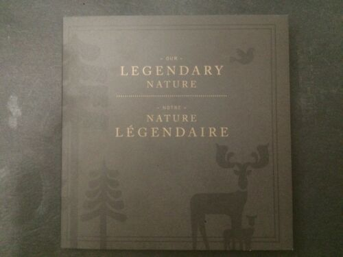 2011 Canada Legendary Nature Parks Boreal Forest coin Holder Card Folder $2 25c