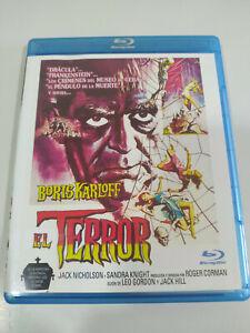 El Terror Boris Karloff Jack Nicholson - Blu-Ray Español Ingles