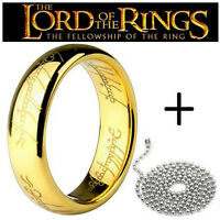PENDANT NECKLACE RING LORD OF THE RINGS HOBBIT LORD OF THE RINGS gold/silver