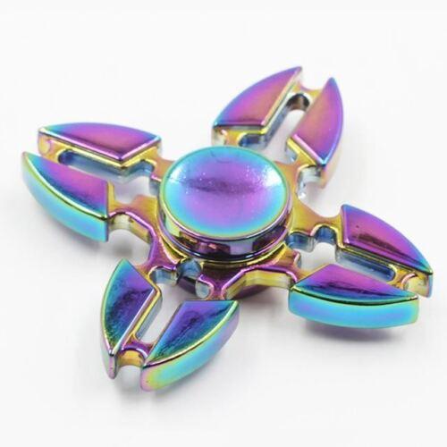 Bangers doigt Spinner main Focus Spin Brass Metal Rainbow portant stress jouets UK