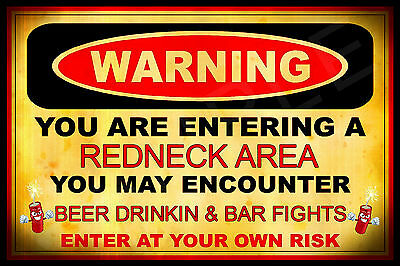 *POLITICALLY INCORRECT* MADE IN USA METAL SIGN 8X12 FUNNY MAN CAVE BAR REDNECK