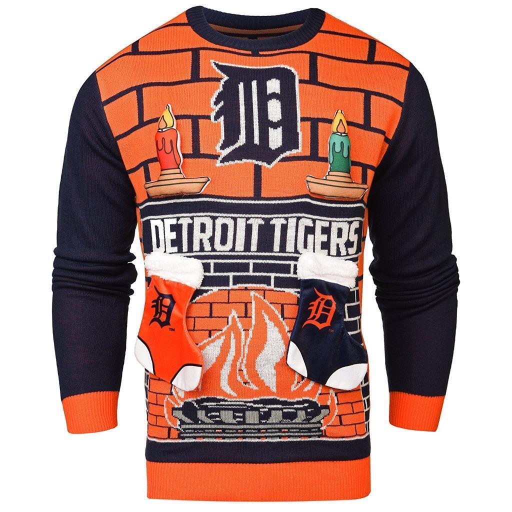 Zu cool New Detroit Tigers 3D Ugly Christmas Sweater Größe M MSP