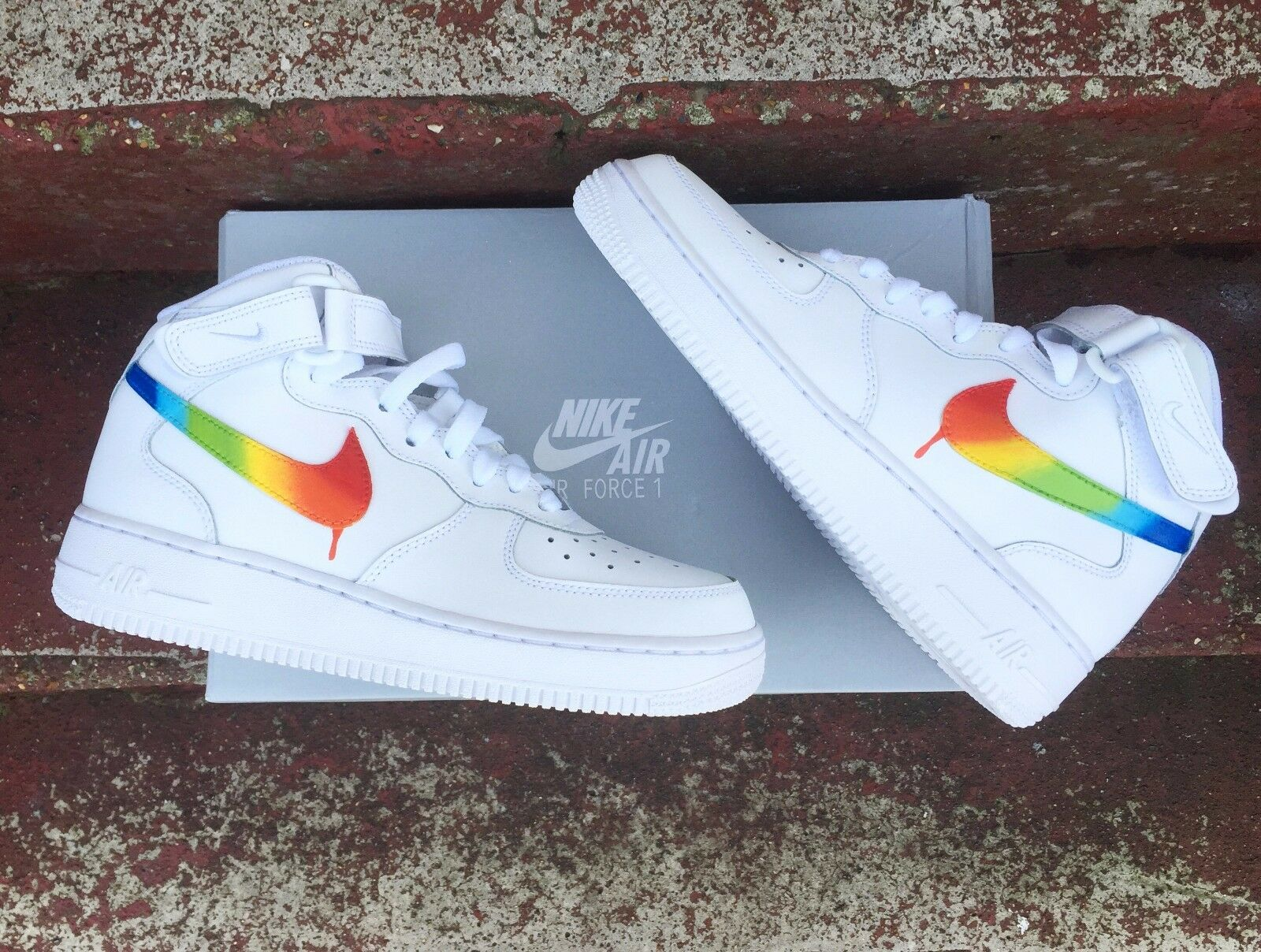 Rainbow Nike Air Force Force Force 1's f01ae2