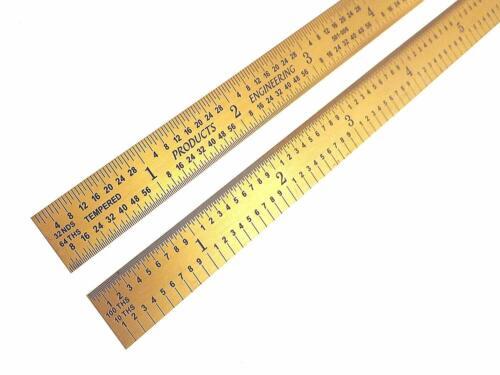 "PEC Tools Flexible 6/"" 5R Titanium Nitride Coated Extreme Scratch Resistant Ruler"