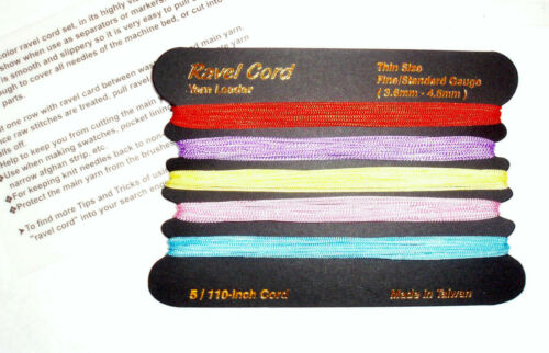 2 Sets Ravel cord all fine//standard gauge machine Knitting Brother,S//Reed,Singer