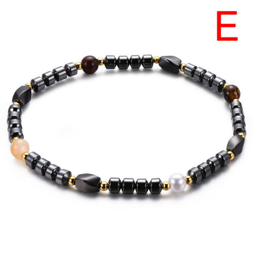 Weight Loss Black Stone Anklet Anklet Health Magnetic Ankle Bracelet Jewelry HC