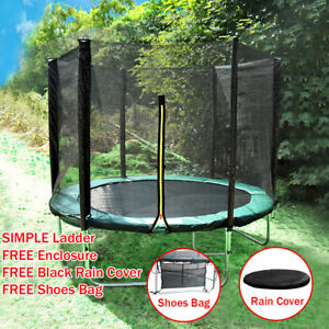 b2c07ef146ffb Image is loading Trampoline-Set-With-Safety-Net-Enclosure-Rain-Cover-
