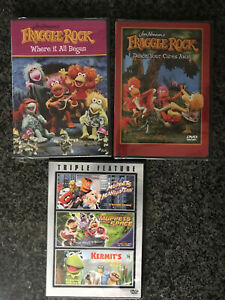 FAMILY 3 DVD 6 movie Lot: Fraggle Rock x2 ✰ MUPPETS Triple Ftr ✰  ✰SHIPS FREE/US