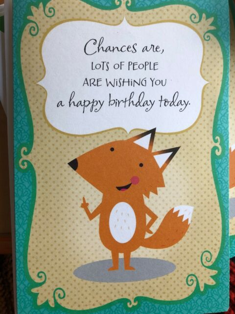 Cute Pop Up Fox Birthday Card American Greetings Jazz Hands