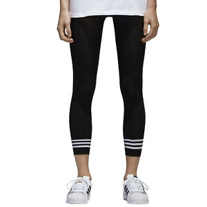 Details about Adidas Originals Tight 3 Stripes Damen Leggings Tights College Style