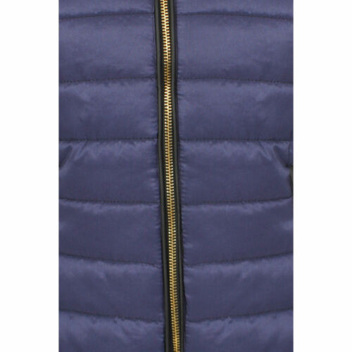 Ladies Quilted Puffer Padded Bubble Fur Collar Warm Thick Womens Jacket Coat