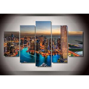 Details about Dubai City Skyscrapers Building 10 Pieces Canvas Wall Art  Poster Print Home Decor