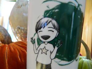 Details About Starbucks 2015 Dot Collection Finger Paint Boy Ceramic Travel Tumbler Mug 12 Oz