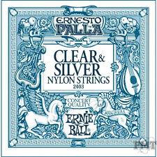 Ernie Ball 2406 Ernsto Palla Nylon Black & Silver Classical Guitar Strings 28-42