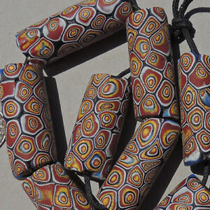 8-old-antique-large-venetian-tubular-millefiori-african-trade-beads-4874