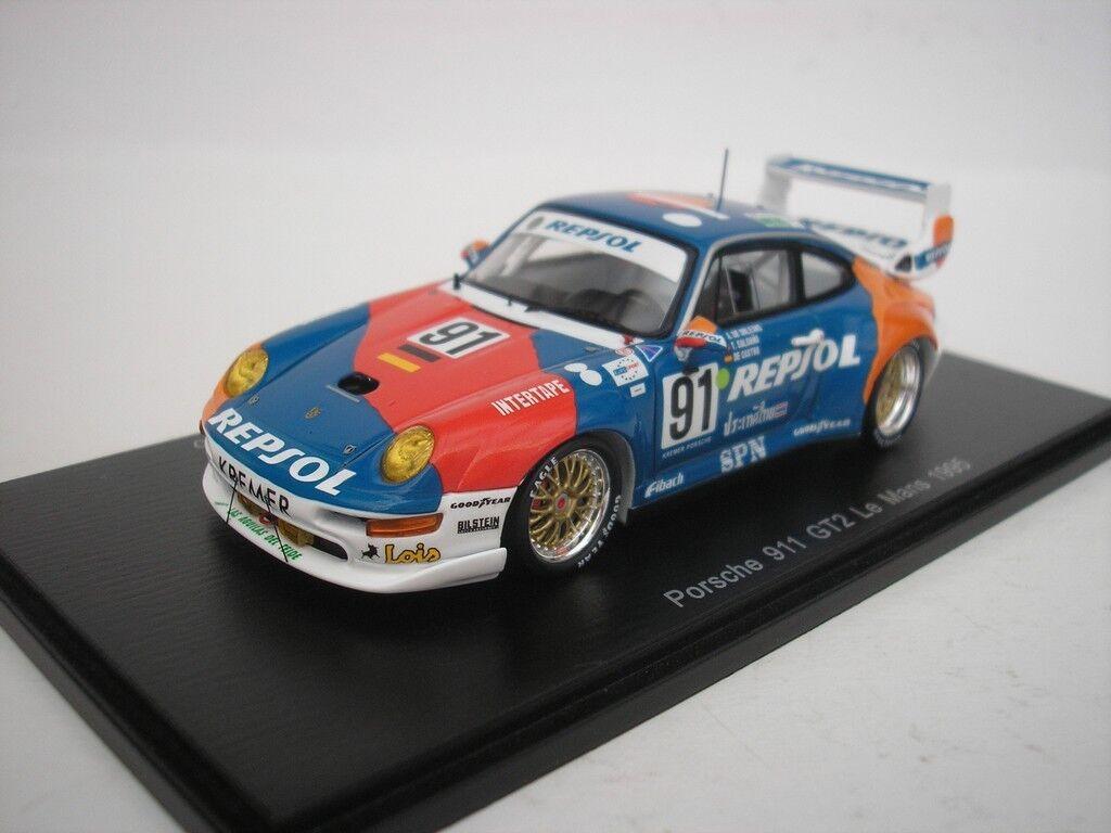 Porsche 911 GT2  91 le Mans 1995 A.Orleans Bourbon 1/43 Spark S5512 Nuovo