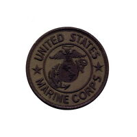 Us Marine Marines Corps Usmc Military Subdued Olive Drab Round Embroidered Patch on sale