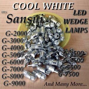(5) G5000 G7000 G7500 G7700 G8000 G9000 COOL WHITE 8v LED WEDGE LAMP BULB