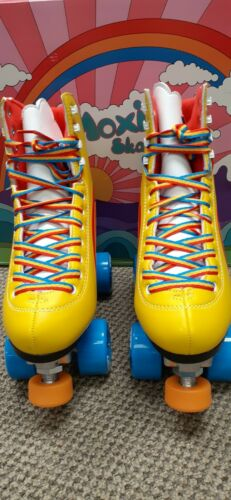Details about  /New Moxi Rainbow Rider Roller Skates Yellow Size 4 Fits women/'s size 5//5-5.