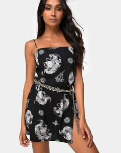 MOTEL-ROCKS-Datista-Slip-Dress-in-Black-Dragon-L-Large-mr31