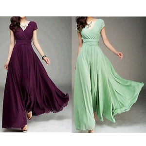 Women 39 s summer boho v neck long maxi dress evening for What kind of shoes to wear with wedding dress