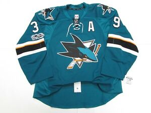 COUTURE SAN JOSE SHARKS AUTHENTIC HOME 100th ANNIVERSARY REEBOK EDGE 2.0 JERSEY