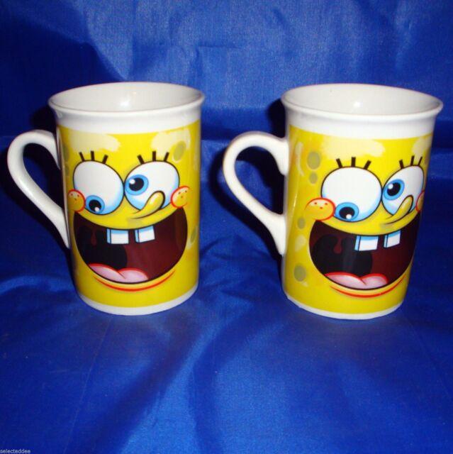 Spongebob Squarepants TV Cartoon Character Coffee Mugs Lot of 2