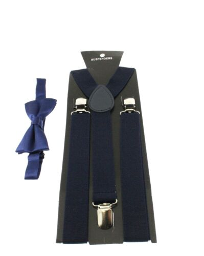 Zac/'s Alter Ego® Men/'s Matching Suspenders /& Pre-Tied Bow Tie Combo Sets
