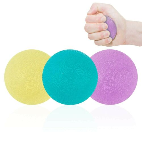 NATEE 3 Piece Hand Therapy Training Exercise Balls Squeeze Grip Trainer Balls...