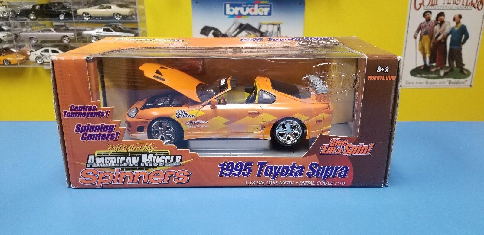 ERTL American Muscle Spinners 1995 Toyota  Supra 1 de 5000 NEUF  nouveau sadie