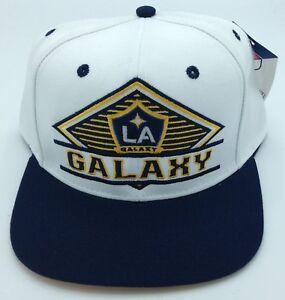 98a7ad4cb8f36 MLS Los Angeles Galaxy Adidas Snap Back Cap Hat Beanie Style  VS79Z ...