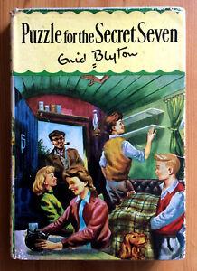 ENID-BLYTON-PUZZLE-FOR-THE-SECRET-SEVEN-VINTAGE-1972-HARDBACK-WITH-DW-DJ