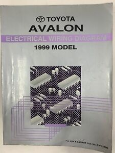 1999 Toyota Avalon Electrical Wiring Diagram Repair Manual ...