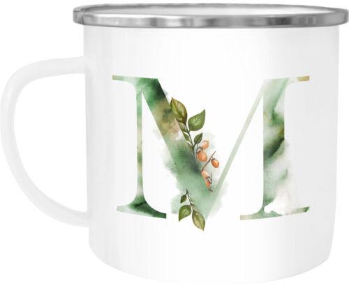 """Emaille Tasse Becher Buchstaben-Tasse /""""A/"""" Alphabet Monogram Zeichen Tasse mit"""