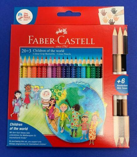 Faber Castell Color Grip Set Farbstifte Buntstifte Colour Etui inkl Hautfarben