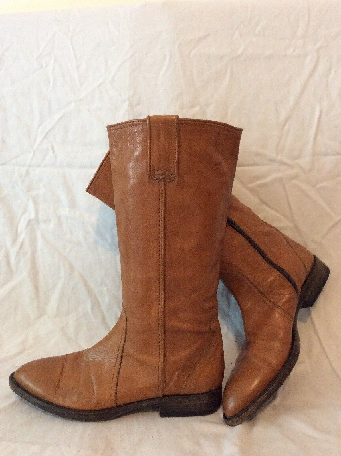 Pons Quintana Brown Knee High Leather Boots Size 38