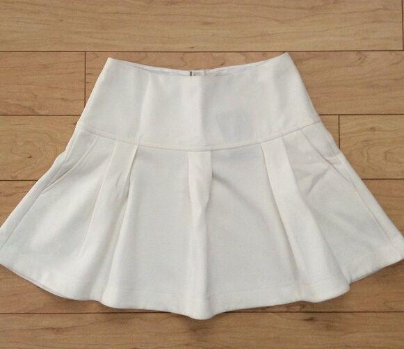 Leifsdottir Magra Swing Skirt Size 8 Ivory color NW ANTHROPOLOGIE Tag